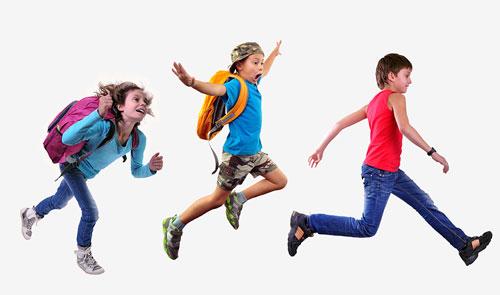 3 kids leaping east gippsland osteopathy